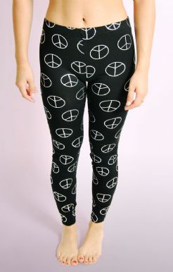 Foil Peace Symbol Leggings